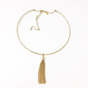 Stella & Dot Chrislen Choker Tassel Charm Necklace
